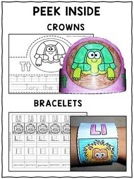 Zoo Alphabet Activity Crowns and Bracelets