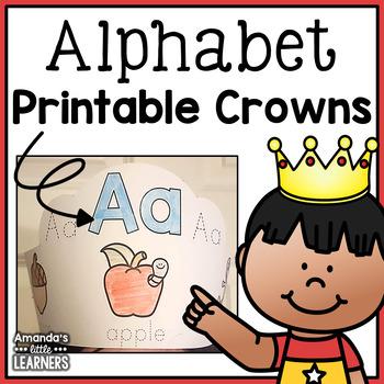 Alphabet Crowns - Letters A-Z