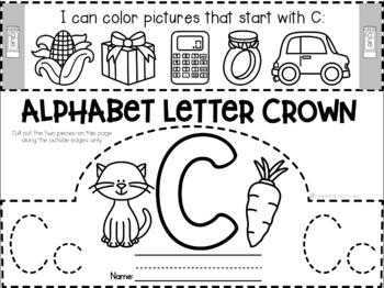 Alphabet Letter Crowns