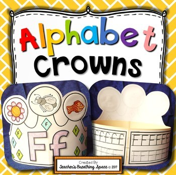 Alphabet Crowns --- Interactive Alphabet Hats From A to Z