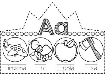 Alphabet Crowns - Beginning Sound Crowns