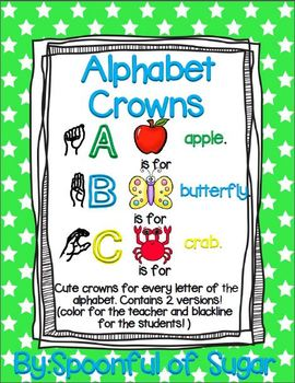 Alphabet Crowns (Crowns from A-Z)