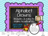 Alphabet Crowns - Easy to make headbands for each letter!