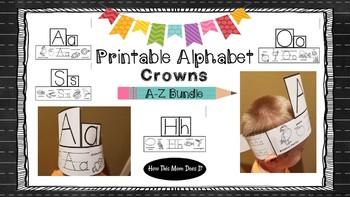 Alphabet Crowns | Hats - Printable Alphabet Crafts