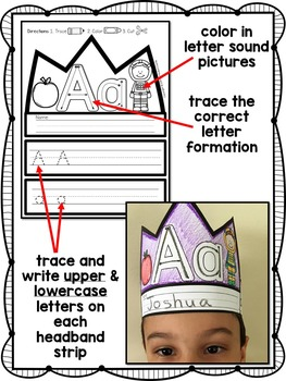 Alphabet Crowns: Letters A to Z!