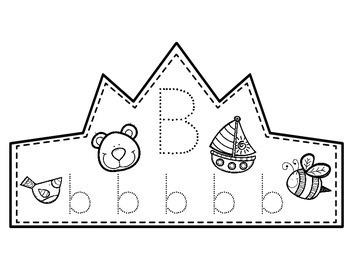 Alphabet Tracing Headbands/Crowns