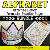 Alphabet: Crowns and Letter Formation Practice BUNDLE