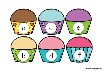 Alphabet Cupcake Match