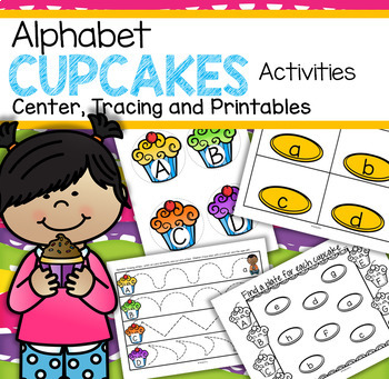 Alphabet Cupcakes Activities - Center, Tracing, Supporting Printables