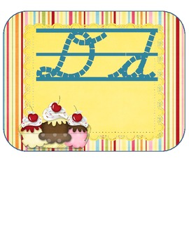 Alphabet Cursive Dnelian Display Above Board Sweets Theme