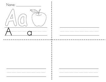 """Alphabet """"Cut Apart Book"""" - letters, letter sounds, handwriting"""