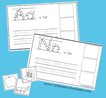 Alphabet Cut & Paste Book with Letter Practice