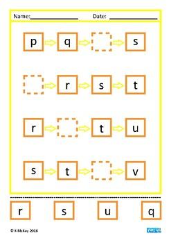 Alphabet Cut and Paste Autism Special Education