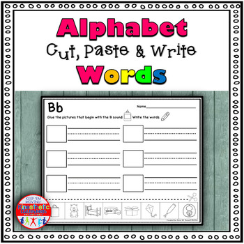 Alphabet Cut and Paste Words