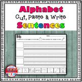 Alphabet Sentence Cut and Paste Worksheets