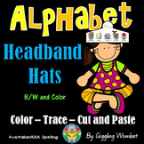 Alphabet Cut Paste and Trace Headband Hats