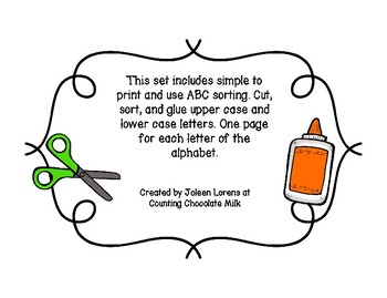 Alphabet Cut, Sort, and Paste
