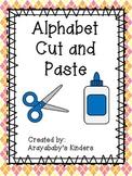 Alphabet Cut and Paste Activities