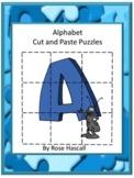 Alphabet Puzzles, Letter Recognition Activities, Alphabet Cut and Paste Puzzles