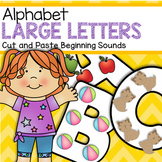 Alphabet Cut and Paste Large Letters for Early Preschool