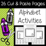 Alphabet Cut and Paste Activities!
