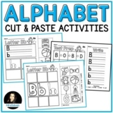 Alphabet Cut and Paste Activities NO PREP for letter names