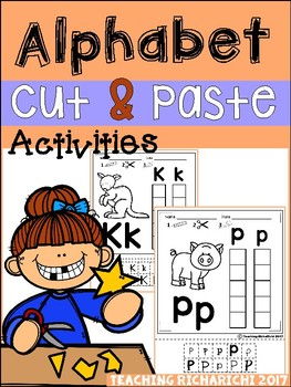 Alphabet Cut and Paste Activities (Upper and Lower case)
