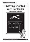 Alphabet Cut and Paste Activity Book