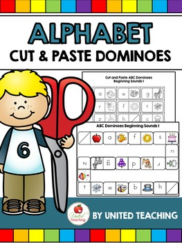 Alphabet Cut and Paste Dominoes