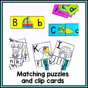 Alphabet Cut and Paste Matching Activity