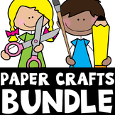 Alphabet Paper Craft Bundle {26 No Prep Fun Activities}