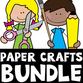 Alphabet Paper Craft Bundle {26 No Prep Fun Activities}