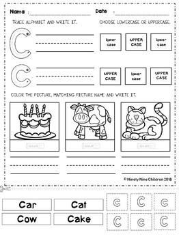 Alphabet Cut and Paste Part 4