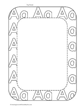 Alphabet Cut and Paste Picture Frames