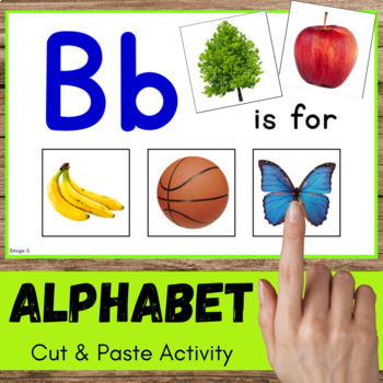 Alphabet Cut and Paste Activity for Special Ed