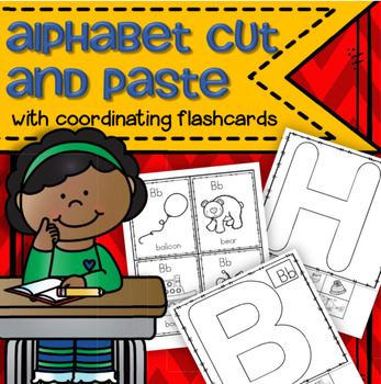 Alphabet Cut and Paste with Flashcards