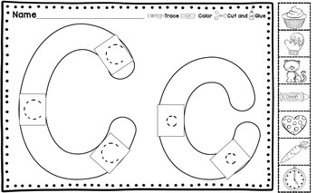 Alphabet Cut and Pastes for Transitional Kindergarten -TK- by Kinder League