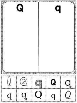 Alphabet Cut and Sorts (NO PREP)