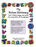 Alphabet Cut 'n Paste Picture Dictionary