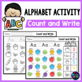 Alphabet Dab and Color | Alphabet Worksheets Count and Write