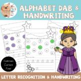 Alphabet Dab / Letter Recognition / Victorian Cursive Font Handwriting