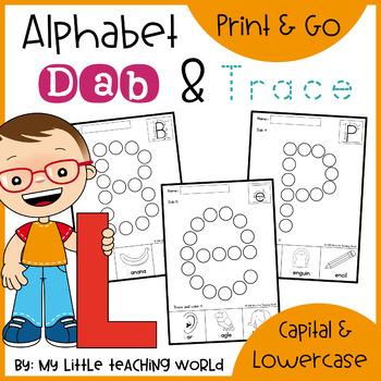 Alphabet Dab & Trace Worksheets Set