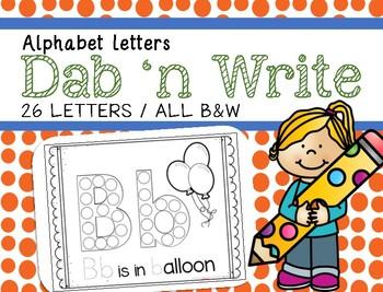 Alphabet Dab 'n Write