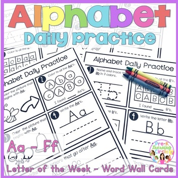 Alphabet Daily Practice(Aa - Ff)