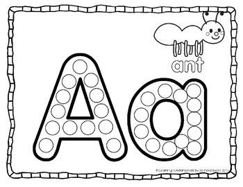 Alphabet Dauber : Capital & Lowercase Dab-a-Dot Practice