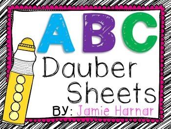 Alphabet Dauber Sheets