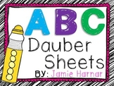 Alphabet Dauber Sheets