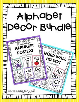 Alphabet Decor Bundle - Alphabet Posters & Word Wall Headers