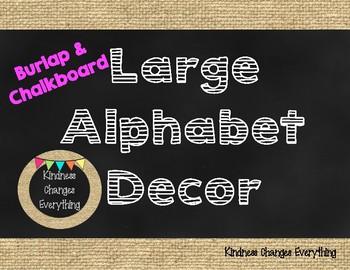 Alphabet Decor *Burlap & Chalkboard Theme