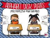Alphabet Desk Plates